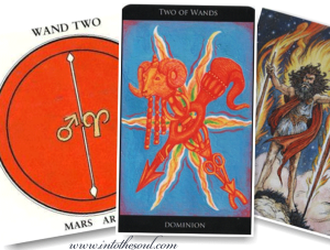 The Two of Wands, 2 Wands, Mars, Aries, Tarot